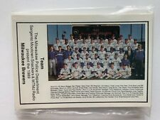 1989 Milwaukee Brewer Official Souvenir Complete 30 Card Police Set.