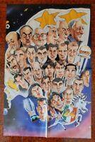 POSTER JUVENTUS 24° SCUDETTO 1997 DEL PIERO ZIDANE DESCHAMPS MOGGI