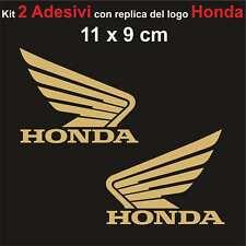 Kit 2 Adesivi Honda Moto Stickers Adesivo 11 x 9 cm decalcomania ORO
