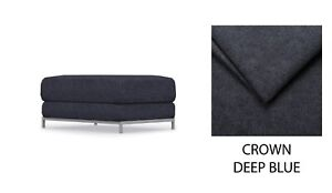 KRAMFORS IKEA Footstool Cover, Slipcover - Crown Deep Blue