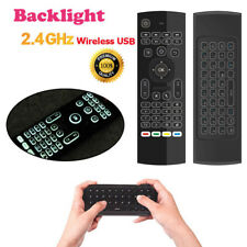 2.4G Mini Wireless Keyboard Fly Air Mouse Remote Backlit For Android TV BOX