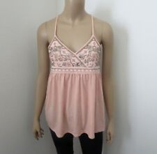 NWT Hollister Beaded Babydoll Tank Top Size XS Pink