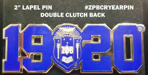 Zeta Phi Beta Year and Crest Lapel Pin
