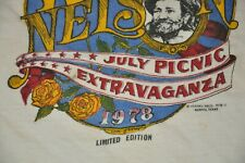 1978 Willie Nelson July Picnic Extravaganza Ringer White Blue SS Large