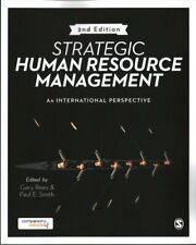 Strategic Human Resource Management An international perspective 9781473969322