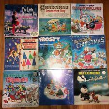 Kids Christmas LP LOT - 9 LP's - Chipmunks, Care Bears, Rudolph, Frosty, ETC.