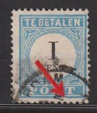 P3 Port nr 3 PLAATFOUT ET used NVPH Netherlands Nederland Pays Bas due portzegel