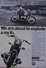 1971 BMW Motorcycle Ad 500 600 750 cc EXPLODE A MYTH