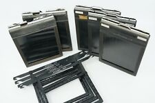 5-VINTAGE 4X5 CUT FILM HOLDERS PLUS RAYGRAM 4X5 FILM PACK HANGERS