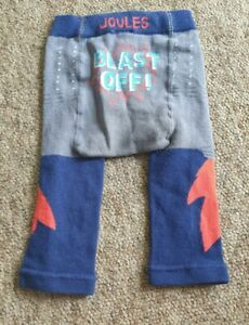 Joules navy grey blast off knitted leggings age 0-6 (?)  months