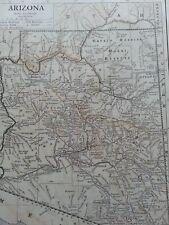 Antique Print 1926 Map Of Arizona United States Usa Map Of The World Atlas Globe