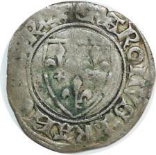 O6210 Charles VI 1380-1422 Blanc guénar Argent ->F offre
