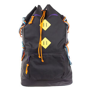 TOPMAN Backpack Rucksack Extra Large Laced Sides Embroidered Straps Drawstring