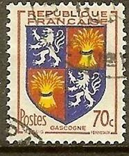 "FRANCE TIMBRE STAMP N° 958 "" BLASON GASCOGNE "" OBLITERE TB"
