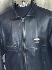 Vintage Men's Black leather NAƧA  Moto Jacket size Large