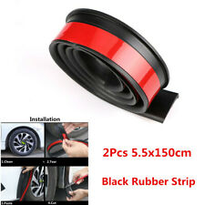 2Pcs Rubber Black 1.5m Car Wheel Eyebrow Arch Trim Lips Fender Flares Protector