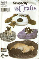 SIMPLICITY PATTERN 7014 DOG PET BEDS PILLOWS 4 STYLES SHAPES UNCUT