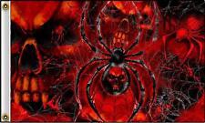Black Widow Spider With Skull Heads 3 X 5 Motorcycle Deluxe Biker Flag #378 New