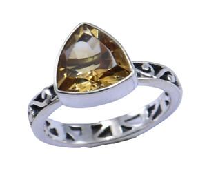 citrine gemstone design rings size 7 women silver 925 sterling silver fine ring