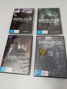 Sherlock : Complete Series 1&2&3&4 DVD Set BBC 8 Disc's