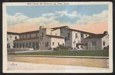 Postcard La Jolla California Ca view of the Casa De Manana tourist hotel 1910