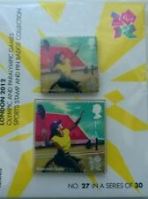 LONDON 2012 OLYMPICS - TENNIS ROYAL MAIL 1ST CLASS STAMP & PIN BADGE PACK