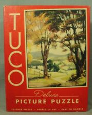 vintage old Tuco work shops deluxe picture puzzle countryside trees scenery
