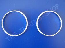 Se adapta a Mercedes W210 CLK W208 W202 FL Calentador de aluminio rodea Cromo Anillos x2