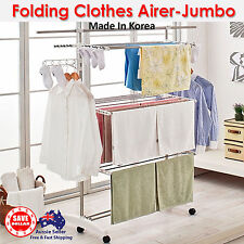 Folding 3 layer Clothes Laundry Airer Folding Dryer Drying Rack Hanger Garments