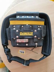 Genuine Dewalt Heavy Duty Tool Belt And Leather Pouch Plus Tape Clip