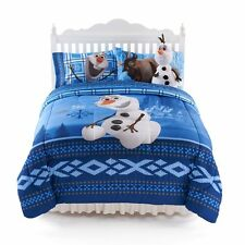 Disney Frozen Olaf Bedding Full Comforter and Sheets 4 Piece Set Pillowcase