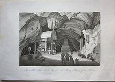 1845 INTERNO CHIESA SANTA ROSALIA PALERMO Zuccagni Orlandini acquaforte