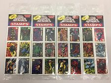 Marvel Super Heroes Stamps Year 1996 New Sealed