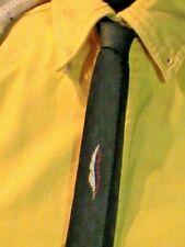 Vintage 50s Mid Century Brown Skinny Necktie gogo feather Metalic Sheen Sinatra