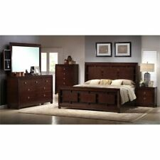 Picket House Furnishings Easton 4 Piece King Bedroom Set in Cherry