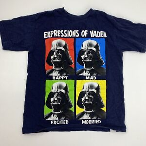 Expressions of Vader Star Wars Boys T-Shirt Size 8