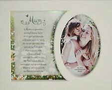 """ Mum"" Keepsake photo mount to fit 8"" x 10""  Bedroom Living Room Dining Room"