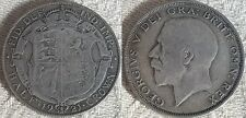 1921 King George V Silver Half Crown Coin