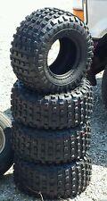 """NEW 4 Golf Cart 18 x 9.5-8 All Terrain Knobby Tires on 4 8"""" White Steel Wheels"""