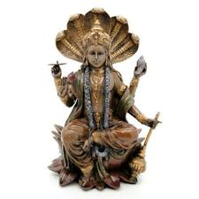 "VISHNU STATUE 8"" Hindu Protector of the Universe GOOD QUALITY Bronze Color Resin"
