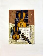 Udo Nolte: Hommage a Stradivari. Original-Radierung, signiert/nummeriert