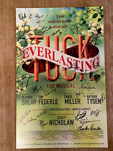 tuck everlasting Musical Windowcard (Rare) Sign By Original Cast 🎭
