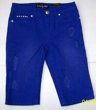 Baby Phat Girls Royal Blue Skinny Shorts Size 10 NWTS Cute!! Retail $35