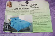 Joy Mangano Full Purple Comforter Pillowcases Shams Bolster Pillow Cover New
