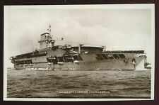 Navy Aircraft Carrier COURAGEOUS early RP PPC torpedoed 1939