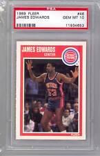 1989 Fleer Basketball James Edwards (#46) PSA10 PSA