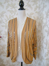24 DEFINITIONS BEADED SHRUG JACKET VINTAGE DOWNTON DECO 20'S 30'S STYLE WEDDING