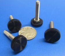 "Plastic Black Stainless Thumb Screw, 5/8"" Head Dia. x 10-32 x 1.0"" Length, 20 Pc"