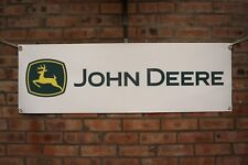 John deere tractor large pvc WORK SHOP BANNER garage man cave show banner
