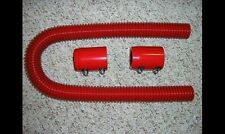 "Red 36"" Street Rod Flexible Stainless Steel Radiator Hose Kit SHOW DISPLAY"